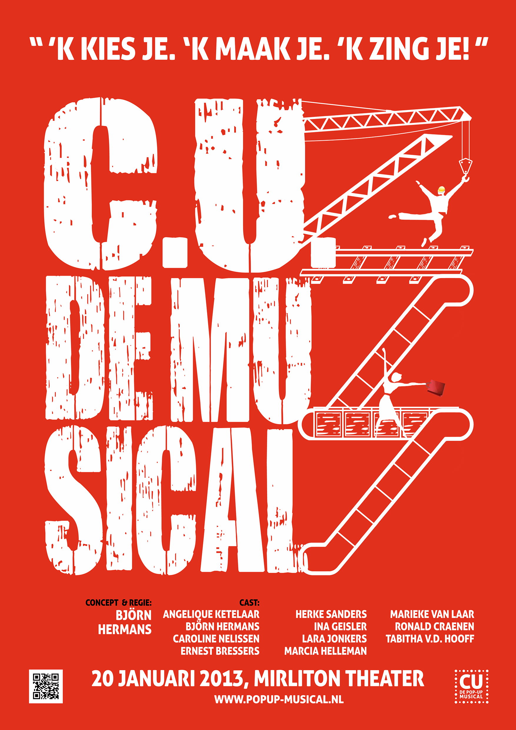 """CU: De Pop-up Musical"" poster"